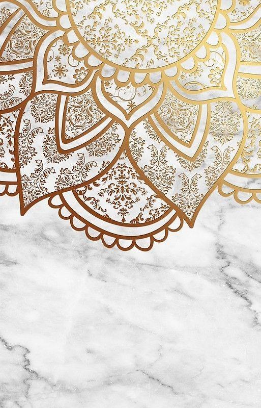 Iphone Hulle Mandala Gold Marble Von Aleibanez Mandala Wallpaper Gold Wallpaper Iphone Rose Gold Wallpaper