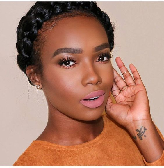 Halo Braids For Your Natural Hair Natural Hair Styles Makeup For Black Women Womens Makeup