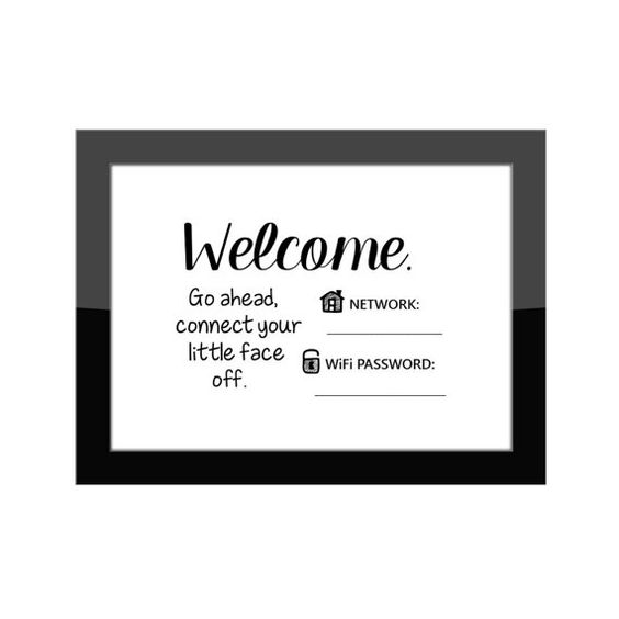 Funny Wi Fi Network Amp Password Sign Guest Room Home