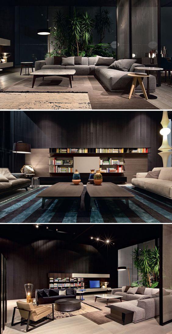 The poliform showroom concept living by poliform i like the furniture and windows seating - Poliform showroom ...