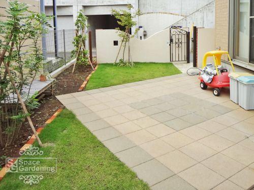 庭 テラス コンクリート平板 Toyo スーパーテラtrm 庭 ガーデンプラン エクステリア