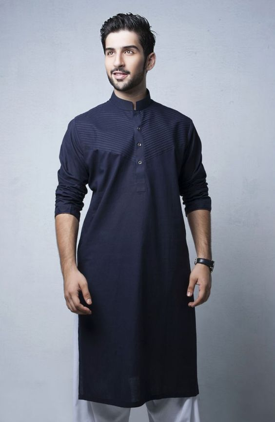 Navy Blue kurta Design for men