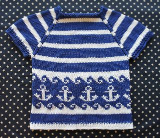 Anchors Away Pullover by Tanis Gray: