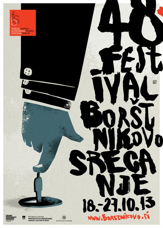 Maribor Theatre Festival by Nenad Cizl, via Behance - Fanstastic Typography! Love the sloppy look.