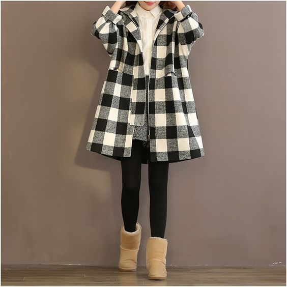 Women winter loose long woolen coat - Tkdress  - 1