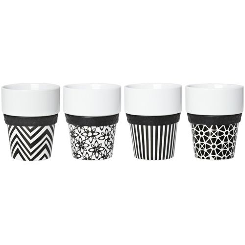 Black and white coffee cups handleless dream wedding pinterest maxis white coffee and - Handleless coffee mugs ...
