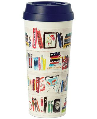 kate spade new york Bella Bookshelf Thermal Mug