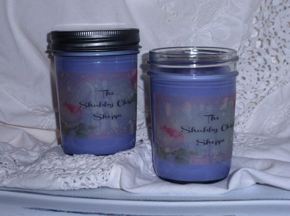 Lavender Soy Candles Scented Candles Soy by TheShabbyChicShoppe, $10.00