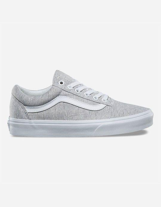 VANS Jersey Old Skool Grey & True White Womens Shoes   Vans
