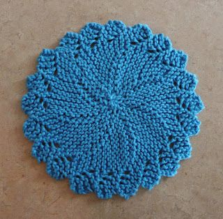 Perfect One-Ounce Dishcloth - FREE Patterns: FREE PATTERN #11 - Knitlist Lacy Round