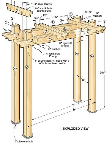 Discover thousands of images about Pergola Plans on Pinterest Step by step plans to make an arbor