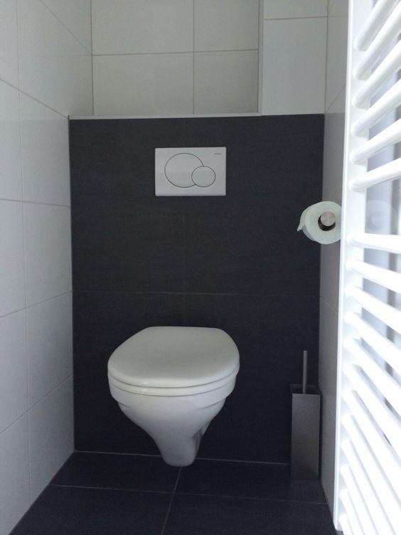 Toilet met antraciet achterwand portfolio keukens badkamers van ennovy pinterest toilets - Voorbeeld deco badkamer ...