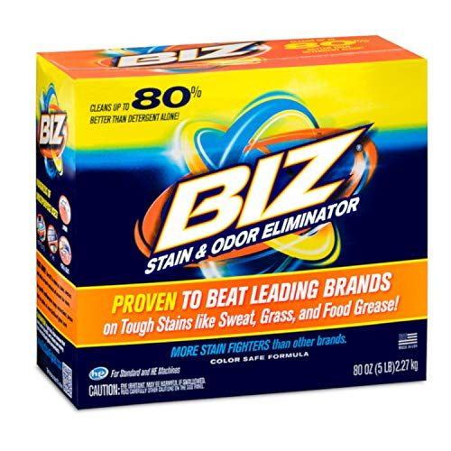 Biz Laundry Detergent Powder Booster Stain Odor Removal 80