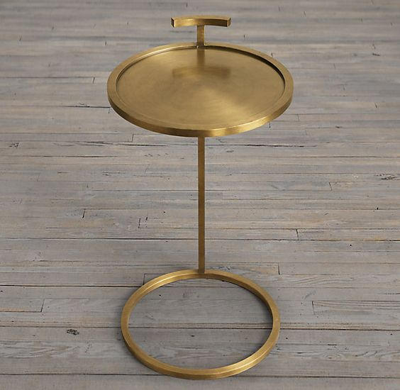 martini side table brass restoration hardware 260 our table 39 s