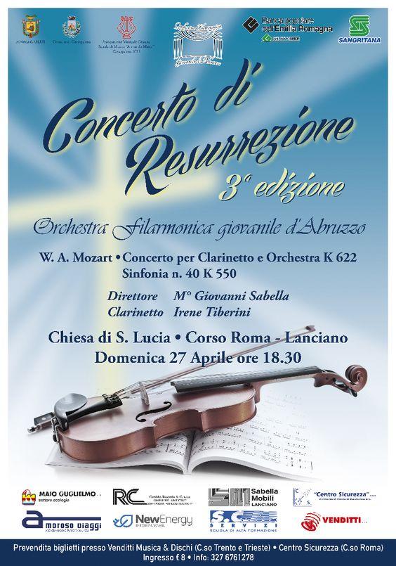 Manifesti per un concerto in occasione della Santa Pasqua di Resurrezione 2014