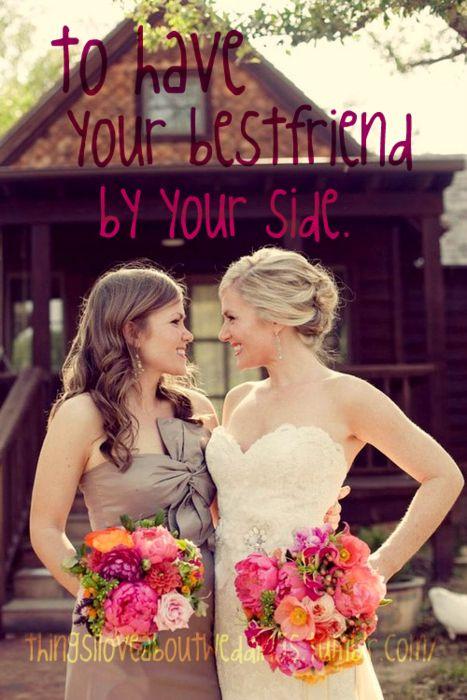 Best friend wedding pic... Love this!