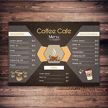 Artwork Graphic Graphics Illustrator Eps Template Flyer Poster A4 Clean Food Restaurant Menu Coffee Drink Natural Hotel C In 2021 Menu Card Design Cafe Menu Menu Cards
