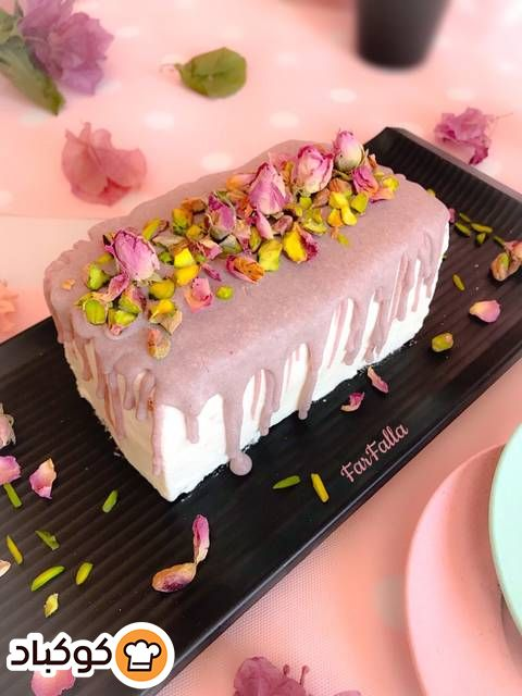 ميني بات نب رج بالورد والفستق بالصور من Farfalla Recipe Cake Food Desserts