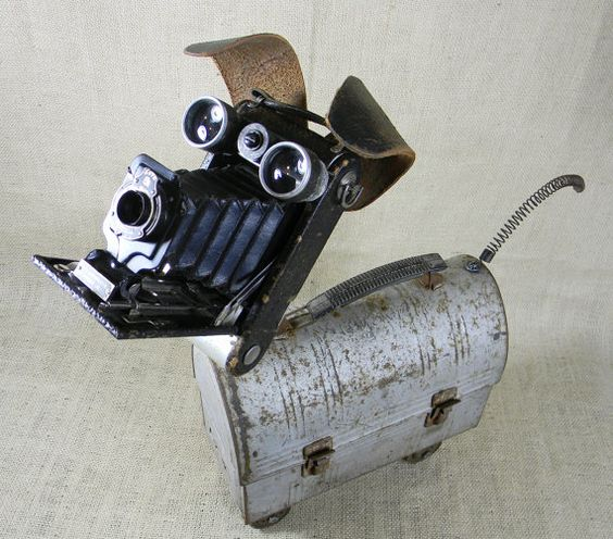 SCRUFFY  Robot Dog Sculpture  Reclaim2Fame by reclaim2fame on Etsy, $315.00