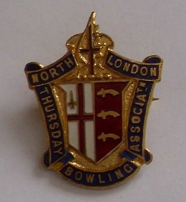Old #north #london thursday bowling #association enamel badge - miller,  View more on the LINK: http://www.zeppy.io/product/gb/2/191870826599/