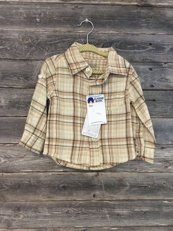Ruggedbutts Brown Flannel Shirt - New with Tags - 18-24M