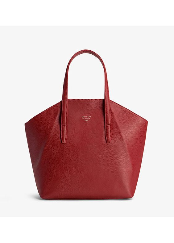 Matt & Nat Vegan bags - The Baxter Bordeaux handbag $259.