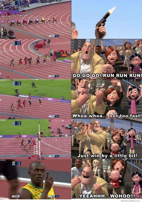 Usain #Bolt meets the Incredibles - #disney #london2012 #londra2012 #incredibles