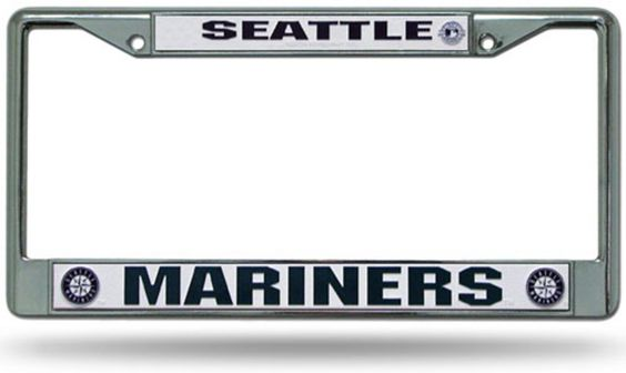 Chrome License Plate Frame - Seattle Mariners   Products   Pinterest ...
