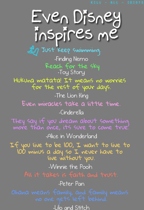Disney Words of inspiration