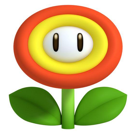 Artwork  New Super Mario Bros 2 fire flower