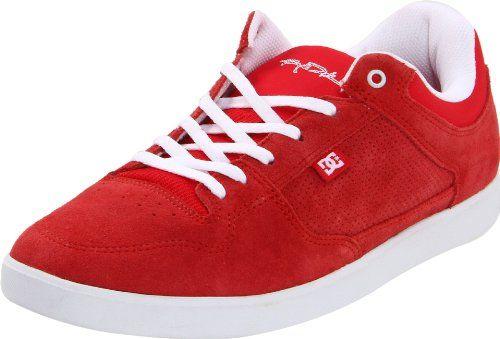 DC Men`s Royal Low Skate Shoe,Red/White,12 M US $65.00