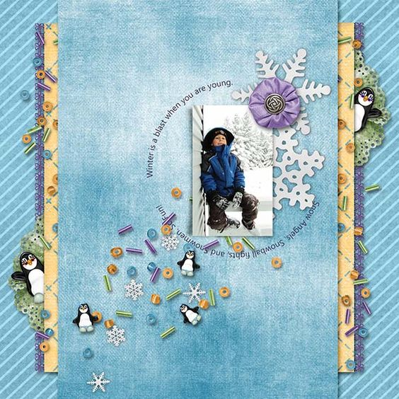 Kit Penguin Playground Bundle -Pickleberrypop and My Memories - penguin template