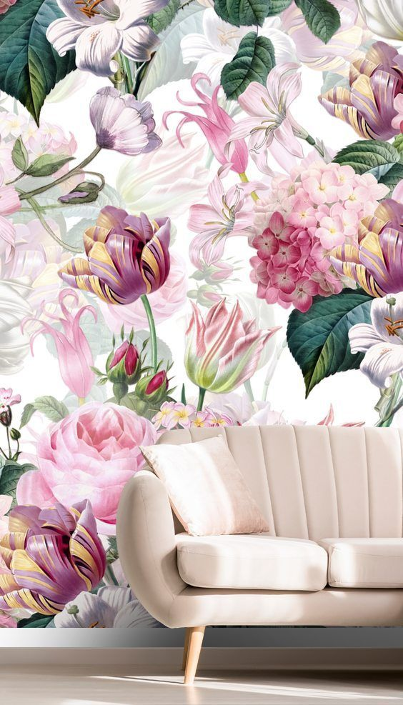 Transform Your Home With This Lovely Floral Romance Wallpaper