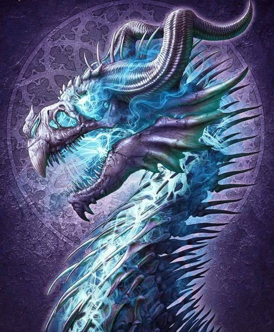 Image result for undead dragon blue
