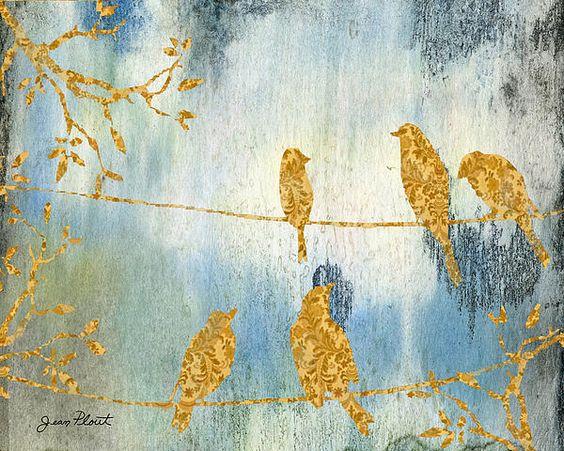 I uploaded new artwork to fineartamerica.com! - 'Birds Gathered on Wires-1' - http://fineartamerica.com/featured/birds-gathered-on-wires-1-jean-plout.html via @fineartamerica