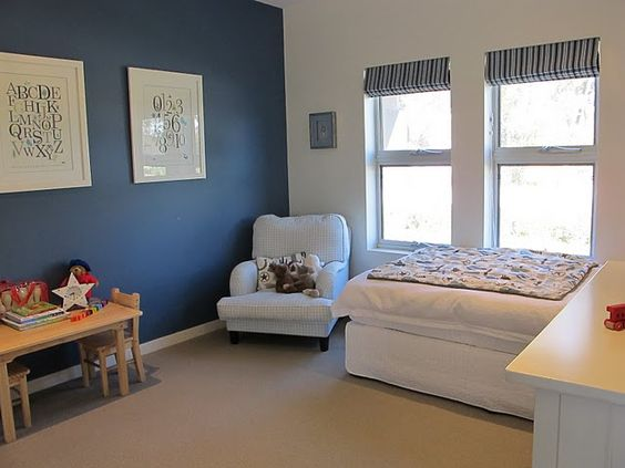 Dulux stream love the blue for a feature wall with other for Grey feature wallpaper bedroom