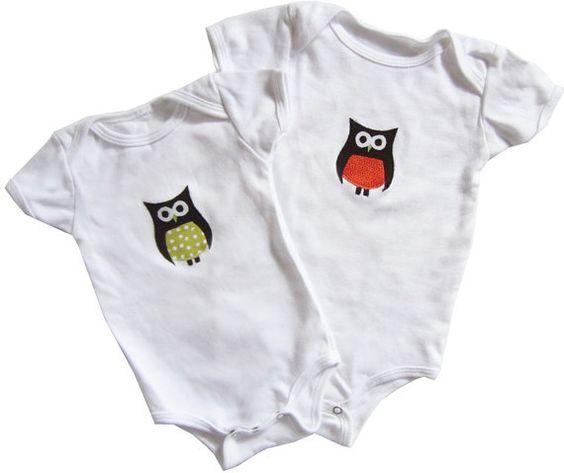 The Littliest Owl Short Sleeve Onesie by TinyCuriosity on Etsy, $20.00