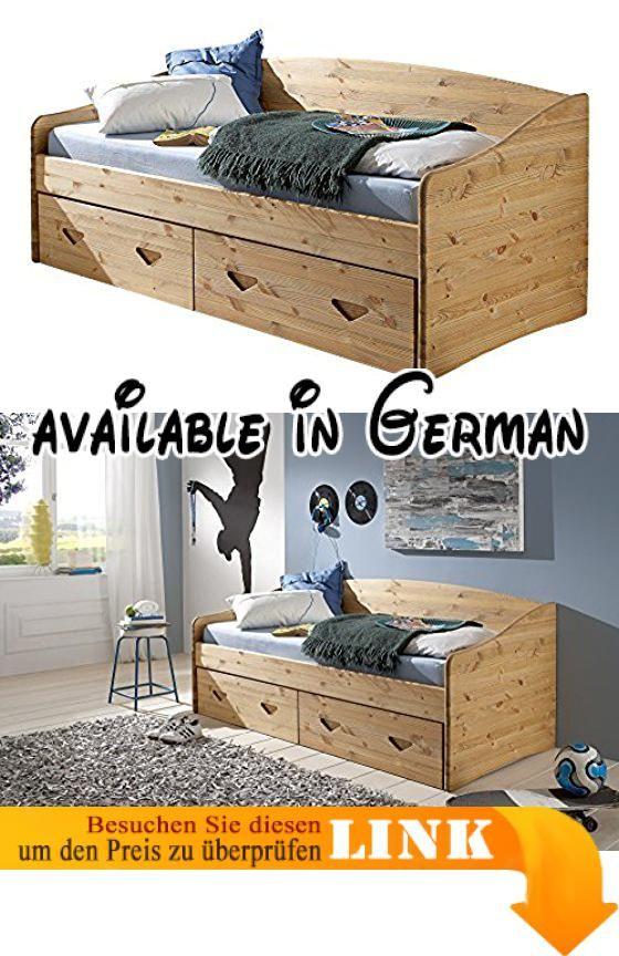 B017qef48u Bett Karin Kiefer Kojenbett Aus Massivem Kiefernholz 90 X 200 Cm Made In Germany Hochwertiges Bett Aus Massivem Stabverleim Kojenbett Bett Holz