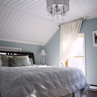 sloped bed room