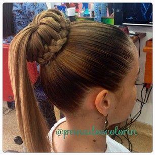 peinadoscolorin's Instagram photos | Pinsta.me - Explore All Instagram Onlinebun ponytail