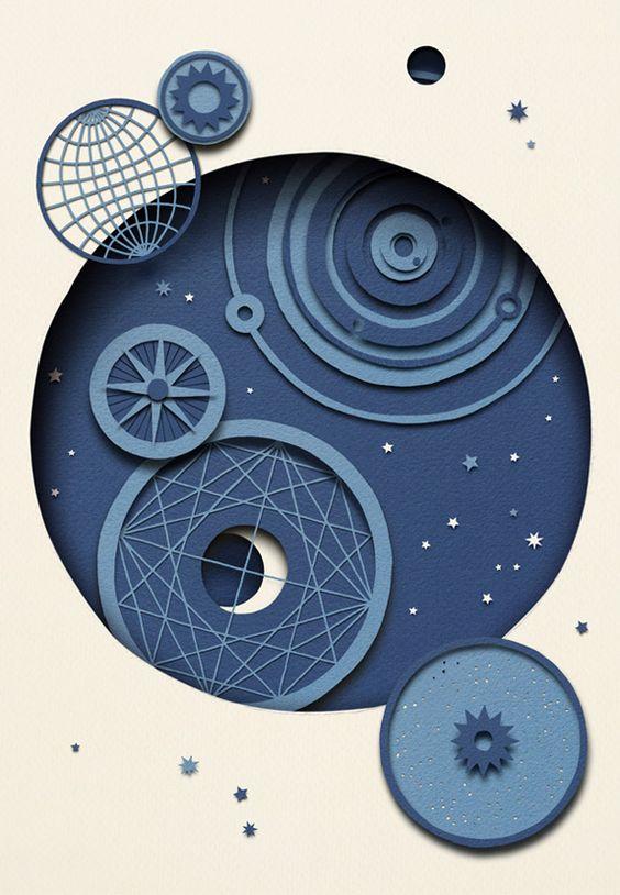 Owen Glidersleeve - Stargazing papercut layers