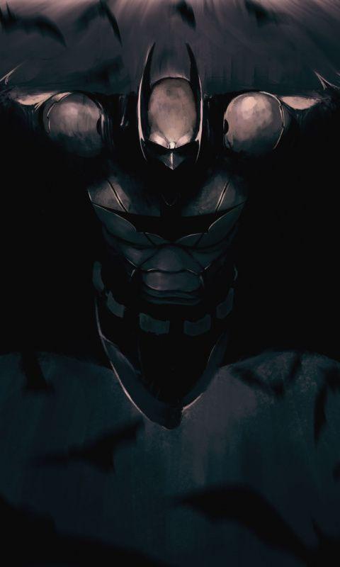 480x800 Wallpaper The Dark Knight Batman Dark Superhero Art Batman Art Batman Batman Artwork