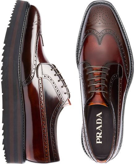 I did not know that Prada made shoes for men, so here is my favorite Prada  Brogue -Shoes