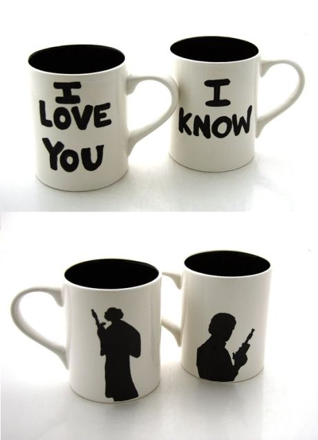 Han Solo and Leia Mug Set
