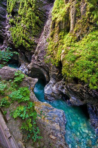 One of the most beautiful and longest gorges in the alps; Liechtensteinklamm Oostenrijk, Austria