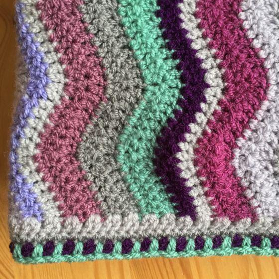 Spike Stitch Edging The Little Room Of Rachell Blanket Crochet Edging Stitch