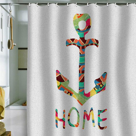 Bianca Green Home Shower Curtain