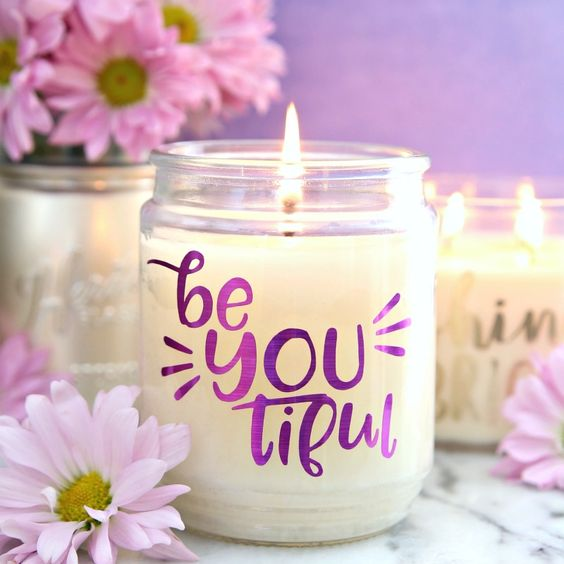 Customize Candle's Look with a Vinyl Cutter