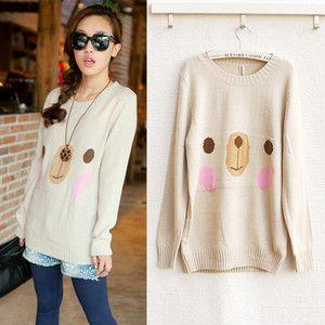 Happy Bear Sweater❤korean Japan Korea Kawaii Vivi Blouse Hoodie Panda Coat s M