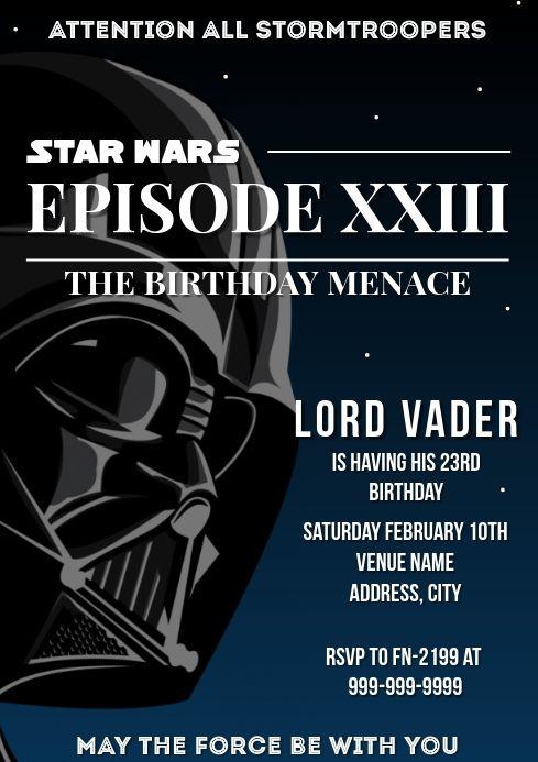 Template Star Wars Birthday Star Wars Invitations Star Wars Invitations Free Birthday Invitations